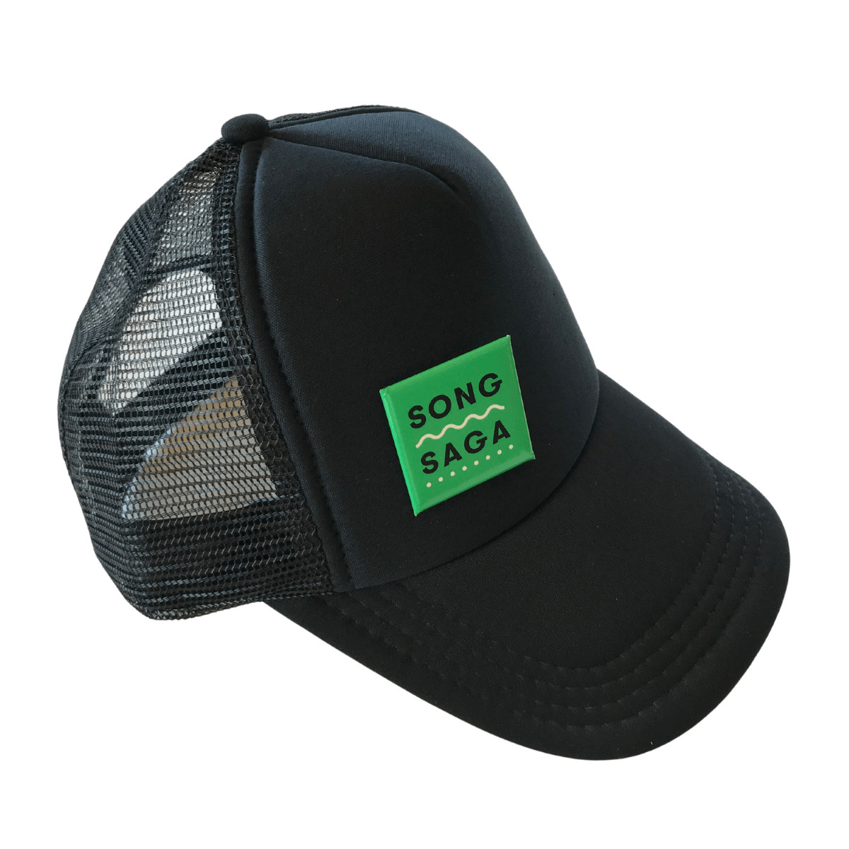 Song Saga Game, Music Game, Story Game, Party Game, Best Party Games, SongSaga, Green Box that Rocks, Card Game, Cards, You Rock Game, Conversation Starters Game, Spotify Game, Song Saga Hat, Trucker hat, song saga trucker cap, baseball hat, baseball cap, mesh hat.